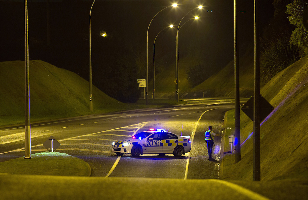 Police were involved in a pursuit which saw the offender fire shots before stealing another vehicle at gun point then finally being detained after relenquishing the firearm after another pursuit to Mt Maunganui, Tauranga, New Zealand, Friday, July 25, 2014. Credit:SNPA / Cameron Avery