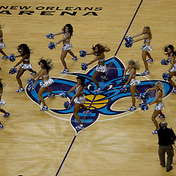 January 3, 2011; New Orleans, LA, USA; New Orleans Hornets Honeybees dancers perform at the end of the third quarter during a game against the Philadelphia 76ers at the New Orleans Arena.   Mandatory Credit: Derick E. Hingle