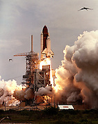 The Shuttle Columbia lifts-off from Launch Pad 39-A on 25 June, 1992 carrying a crew of seven for a thirteen-day flight. AFP Photo by Bob Pearson