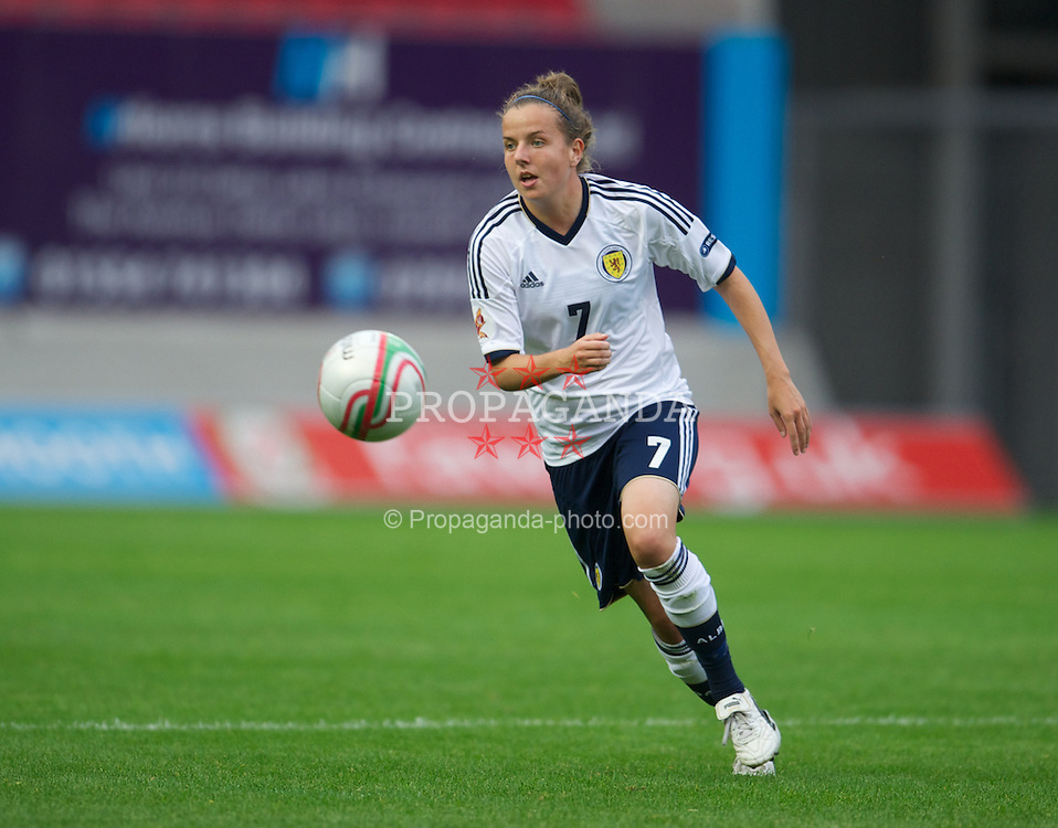 LLANELLI, WALES - Saturday, September 15, 2012: Scotland's Hayley Lauder in action against Wales during the UEFA Women's Euro 2013 Qualifying Group 4 match at Parc y Scarlets. (Pic by David Rawcliffe/Propaganda)