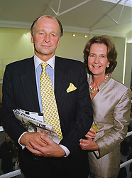 MR & MRS SIMON PARKER BOWLES he was the former brother in law of Camilla Parker Bowles, at an exhibition in London on 10th June 1999.MTC 10