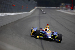 August 19, 2018 - Long Pond, Pennsylvania, United Stated - ALEXANDER ROSSI (27) of the United States battles for position during the ABC Supply 500 at Pocono Raceway in Long Pond, Pennsylvania. (Credit Image: © Justin R. Noe Asp Inc/ASP via ZUMA Wire)