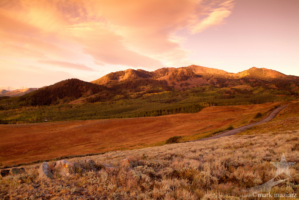 late summer/early autumn scenics of Bonanza Flats, above Deer Valley & Park City, Utah