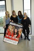 Perspresentatie van De Verleiding van een Moordvrouw van Rick Engelkes Producties in Amsterdam.<br /> <br /> Op de foto:  Sarah Chronis , Nienke Römer , Sanne Vogel en Camilla Siegertsz