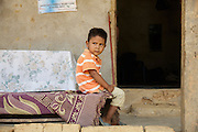 A boy outside his home in Coyolito, Honduras on Thursday April 25, 2013.