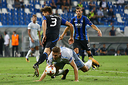 September 14, 2017 - Reggio Emilia, Italy - Rafael Toloi of Atalanta and Nikola Vlasic of Everton during the UEFA Europa League group E match between Atalanta and Everton FC at Stadio Citta del Tricolore on September 14, 2017 in Reggio nell'Emilia, Italy. (Credit Image: © Matteo Ciambelli/NurPhoto via ZUMA Press)