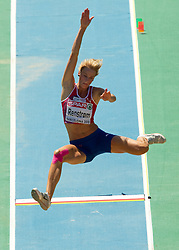 Margrethe Renstrom of Norway competes in the Womens Long Jump Qualifying during day one of the 20th European Athletics Championships at the Olympic Stadium on July 27, 2010 in Barcelona, Spain. (Photo by Vid Ponikvar / Sportida)