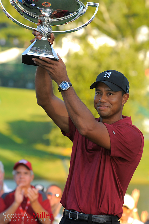 Sep. 27, 2009: Tiger Woods with the FedExCup Trophy Following the PGA Tour Championship at East Lake Golf Club in Decatur, Ga...©2009 Scott A. Miller