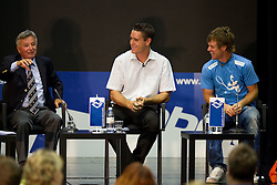 Slavko Rasberger, dolgoletni direktor ATP teniskega turnirja v Umagu, Gregor Krusic, Babolat Slovenija in Blaz Kavcic, najboljsi slovenski teniski igralec  na okrogli mizi O slovenskem tenisu v organizaciji Sportforum Slovenija, on May 17, 2011 in BTC, Ljubljana, Slovenia. (Photo By Vid Ponikvar / Sportida.com)
