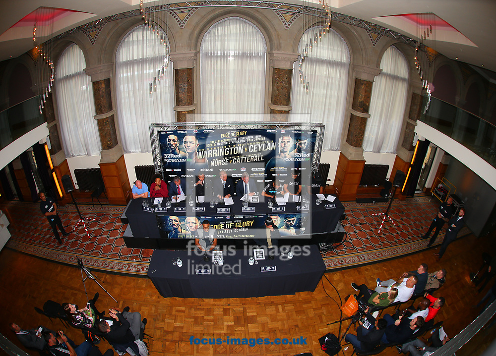 General View during the press conference prior to the Warrington v Ceylan IBF Featherweight World title eliminator contest at Aspire, Leeds, UK.<br /> Picture by Stephen Gaunt/Focus Images Ltd +447904 833202<br /> 04/09/2017