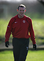 Photo: Paul Thomas.<br />Manchester United training session. UEFA Champions League. 06/03/2007.<br />Man Utd's Wayne Rooney during training.