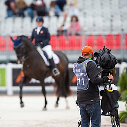 TV Broadcast - Individual Test Grade IV Para Dressage - Alltech FEI World Equestrian Games™ 2014 - Normandy, France.<br /> © Hippo Foto Team - Jon Stroud <br /> 25/06/14