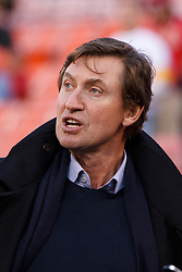 Dec 19, 2011; San Francisco, CA, USA; NHL former player Wayne Gretzky on the sidelines before the game between the San Francisco 49ers and the Pittsburgh Steelers at Candlestick Park. Mandatory Credit: Jason O. Watson-US PRESSWIRE