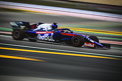 May 11, 2019 - Barcelona, Catalonia, Spain - DANIIL KVYAT (RUS) from team Toro Rosso drives in his STR14 during the third practice session of the Spanish GP at Circuit de Catalunya (Credit Image: © Matthias Oesterle/ZUMA Wire)