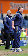 Picture by Graham Crowther/Focus Images Ltd. 07763140036.31/03/12.Graham Westley manager of Preston North End during the Npower League 1 match at Hillsborough stadium, Sheffield..