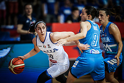 Francesca Dotto of Italy vs Nika Baric of Slovenia and Teja Oblak of Slovenia during basketball match between Women National teams of Italy and Slovenia in Group phase of Women's Eurobasket 2019, on June 30, 2019 in Sports Center Cair, Nis, Serbia. Photo by Vid Ponikvar / Sportida