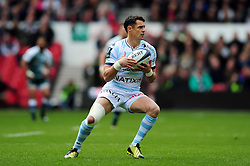 Dan Carter of Racing 92 in possession - Mandatory byline: Patrick Khachfe/JMP - 07966 386802 - 24/04/2016 - RUGBY UNION - The City Ground - Nottingham, England - Leicester Tigers v Racing 92 - European Rugby Champions Cup Semi Final.