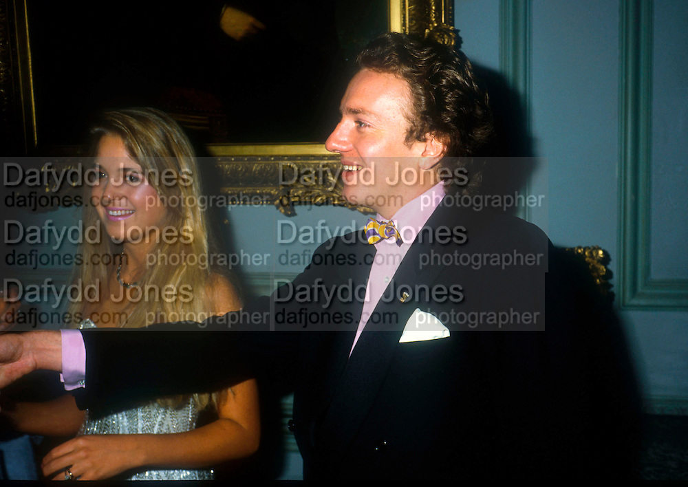 Bride and groom. Marriage of Earl Jermyn later Marquis of Bristol)  to Francesca Fisher, Wedding Ball, Ickworth. 1984. © Copyright Photograph by Dafydd Jones 66 Stockwell Park Rd. London SW9 0DA Tel 020 7733 0108 www.dafjones.com