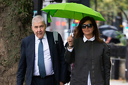 """Zamira Hajiyeva, the wife of a """"fat cat international banker"""" who spent £16 million in Harrods, faces extradition to Azerbaijan where she is wanted on charges of embezzlement, arrives at Westminster Magistrates Court for her extradition hearing. London, September 26 2019."""