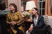 LADY ASHCOMBE; REBECCA HALL, Dinner to celebrate the opening of Pace London at  members club 6 Burlington Gdns. The dinner followed the Private View of the exhibition Rothko/Sugimoto: Dark Paintings and Seascapes.