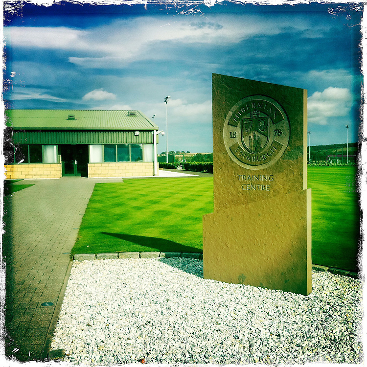 Hibernian FC Training Centre, Ormiston..Hipstamatic images taken on an Apple iPhone..©Michael Schofield.