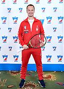 Warsaw, Poland - 2017 December 11: Tennis' trainer coach Radoslaw Szymanik from Poland poses to the picture while Photo Session of Davis Cup Team of Polish Tennis Association at Regent Hotel on December 11, 2017 in Warsaw, Poland.<br /> <br /> Mandatory credit:<br /> Photo by &copy; Adam Nurkiewicz / Mediasport<br /> <br /> Adam Nurkiewicz declares that he has no rights to the image of people at the photographs of his authorship.<br /> <br /> Picture also available in RAW (NEF) or TIFF format on special request.<br /> <br /> Any editorial, commercial or promotional use requires written permission from the author of image.