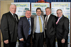 LIVERPOOL, ENGLAND - Friday, November 26, 2010: Billy Ashcroft,  Ronnie Goodlass, comedian Gary Marshall, Joe Royal and Gary Bailey during a Health Through Sport Charity Dinner at the Devonshire House. (Photo by David Rawcliffe/Propaganda)
