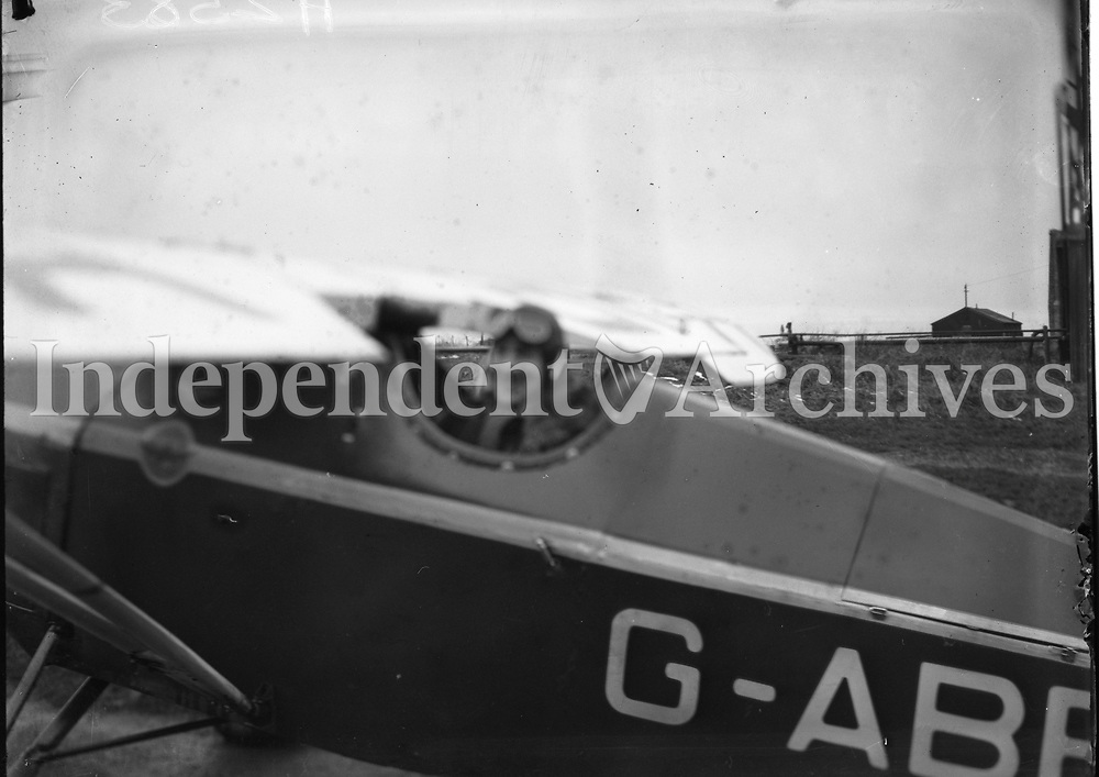 Mr Scally Aviator pictured in an Aircraft, 18 February 1932. <br /> (Part of the Independent Newspapers Ireland/NLI Collection)