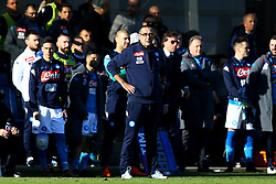 January 21, 2018 - Bergamo, Italy - Napoli trainer Maurizio Sarri  during the Italian Serie A football match Atalanta Vs Napoli on January 21, 2018 at the 'Atleti Azzurri d'Italia Stadium' in Bergamo. (Credit Image: © Matteo Ciambelli/NurPhoto via ZUMA Press)