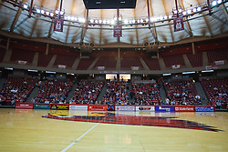 28 February 2010: Redbird Arena begins to fill for the game. The Redbirds of Illinois State host the Panthers of Northern Iowa on Doug Collins Court inside Redbird Arena at Normal Illinois.