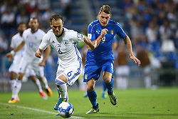 September 5, 2017 - Reggio Emilia, Italy - Bibars Natcho of Israel and Andrea Belotti of Italy during the FIFA World Cup 2018 qualification football match between Italy and Israel at Mapei Stadium in Reggio Emilia on September 5, 2017. (Credit Image: © Matteo Ciambelli/NurPhoto via ZUMA Press)