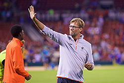 ST. LOUIS, USA - Monday, August 1, 2016: Liverpool's manager Jürgen Klopp after a pre-season friendly game against AS Roma on day twelve of the club's USA Pre-season Tour at the Busch Stadium. (Pic by David Rawcliffe/Propaganda)