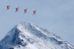 19.01.2013, Lauberhornabfahrt, Wengen, SUI, FIS Weltcup Ski Alpin, Abfahrt, Herren, im Bild Die Patrouille Suiss // during mens downhillrace of FIS Ski Alpine World Cup at the Lauberhorn downhill course, Wengen, Switzerland on 2013/01/19. EXPA Pictures © 2013, PhotoCredit: EXPA/ Freshfocus/ Christian Pfander..***** ATTENTION - for AUT, SLO, CRO, SRB, BIH only *****