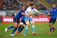 Joshua FURNO / Gael FICKOU - 15.03.2015 - Rugby - Italie / France - Tournoi des VI Nations -Rome<br /> Photo : David Winter / Icon Sport