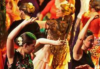 Escuela de Baile students rehearse at the Peacock Theatre