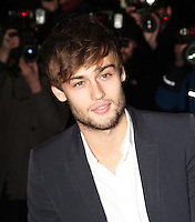 LONDON - DECEMBER 14:   Douglas Booth attends the English National Ballet Christmas Party at St Martins Lane Hotel, London, UK on December 14, 2011. (Photo by Richard Goldschmidt)