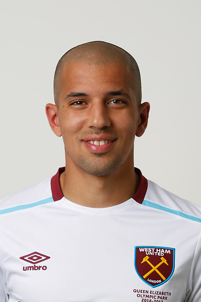 LONDON, ENGLAND - AUGUST 06:  Sofiane Feghouli of West Ham poses during a Premier League portrait session on August 6, 2016 in London, England. (Photo by Tom Shaw/Getty Images)