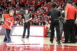 05 December 2015: Broom boy. Illinois State Redbirds host the University of Alabama - Birmingham Blazers at Redbird Arena in Normal Illinois (Photo by Alan Look)