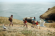 Mark Kosenchuk, 9 explores the Berlengas island with his host familiy. It was the first time he stepped on a boat.