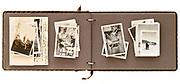 family photo album with adventure travel photographs 1930s - 1940s