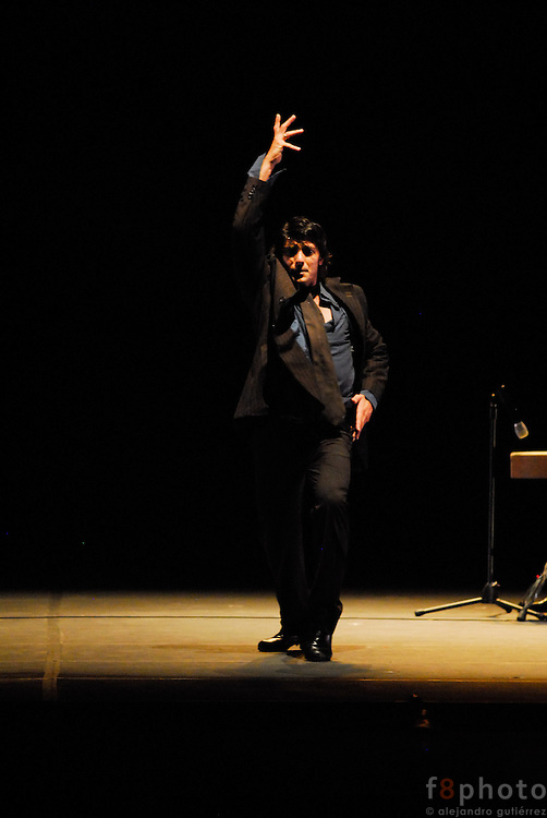 The spanish dancer Joaquín Grilo during a performance in the First Dance Festival Ibérica Contemporánea, Querétaro, México, 2007