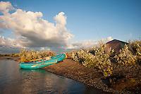 Camp at Sunset..shot on the Kanektok River, Alaska, USA..