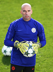 Manchester City goalkeeper Willy Caballero - Mandatory by-line: Matt McNulty/JMP - 18/10/2016 - FOOTBALL - Manchester City - Training session ahead of Champions League qualifier against FC Barcelona