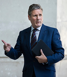 © Licensed to London News Pictures. 08/07/2018. London, UK. Shadow Brexit Secretary SIR KEIR STARMER leaves BBC Broadcasting House after appearing on The Marr Show. Photo credit: Rob Pinney/LNP