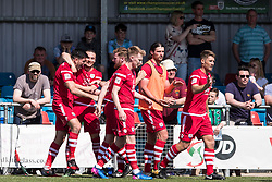 NEWTOWN, WALES - Sunday, May 6, 2018: Michael Wilde of Conahs Quay Nomads celebrates scoring his sides second goal during the FAW Welsh Cup Final between Aberystwyth Town and Connahs Quay Nomads at Latham Park. (Pic by Paul Greenwood/Propaganda) Ryan Wignall, Jonny Spittle, Danny Harrison, Declan Poole