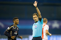 Referee during football match between GNK Dinamo Zagreb and Olympiakos in Group F of Group Stage of UEFA Champions League 2015/16, on October 20, 2015 in Stadium Maksimir, Zagreb, Croatia. Photo by Urban Urbanc / Sportida