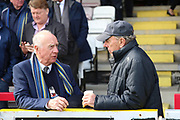 Alun Armstrong in the stands during the EFL Sky Bet League 1 match between AFC Wimbledon and Peterborough United at the Cherry Red Records Stadium, Kingston, England on 17 April 2017. Photo by Matthew Redman.