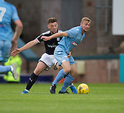 Dundee's Kerr Waddell ad Bolton Wanderers' Josh Vela - Dundee v Bolton Wanderers pre-season friendly at Dens Park, Dundee, Photo: David Young<br /> <br />  - © David Young - www.davidyoungphoto.co.uk - email: davidyoungphoto@gmail.com