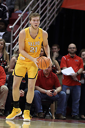27 January 2018:  Derrik Smits during a College mens basketball game between the Valparaiso Crusaders and Illinois State Redbirds in Redbird Arena, Normal IL
