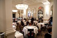 The Dining Room of the three star Michelin Restaurant Daniel, of Daniel Boulud, New York